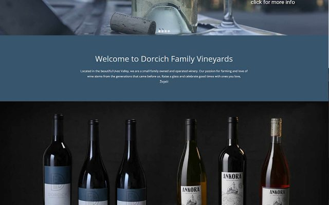 Dorcich Family Vineyards - Silver Sun Marketing Agency